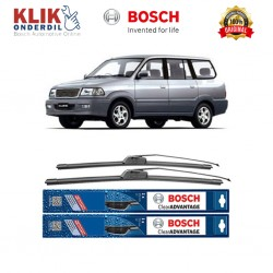 "Bosch Sepasang Wiper Frameless New Clear Advantage Mobil Toyota Kijang Kapsul 20"" & 19"" - 2 Pcs/Set"