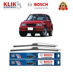 "Bosch Sepasang Wiper Frameless New Clear Advantage Mobil Suzuki Escudo 19"" & 19"" - 2Buah/Set"