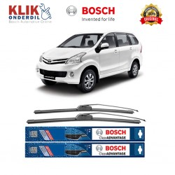"Bosch Sepasang Wiper Frameless Mobil New Toyota Avanza Clear Advantage 21"" & 14"" - 2 Pcs/Set"