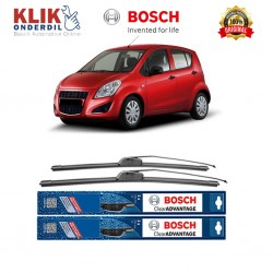 "Bosch Sepasang Wiper Frameless New Clear Advantage Mobil Suzuki Splash 22"" & 16"" - 2Buah/Set"