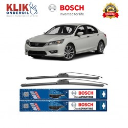 "Bosch Sepasang Wiper Frameless New Clear Advantage Mobil Honda Accord CP 26"" & 19"" - 2Buah/Set"