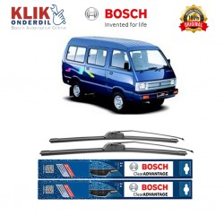 "Bosch Sepasang Wiper Frameless New Clear Advantage Mobil Suzuki Carry 17"" & 17"" - 2Buah/Set"