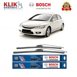 "Bosch Sepasang Wiper Frameless New Clear Advantage Mobil Honda Civic FD 26"" & 22"" - 2Buah/Set"