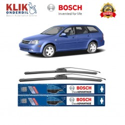 "Bosch Sepasang Wiper Frameless New Clear Advantage Mobil Chevrolet Optra Station Wagon 21"" & 19"" - 2Buah/Set"