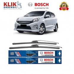 "Bosch Sepasang Wiper Frameless New Clear Advantage Mobil Toyota Agya (20"" & 14"") - 2 pcs/set"