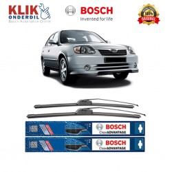 "Bosch Sepasang Wiper Depan Frameless New Clear Advantage Mobil Hyundai Avega (20"" & 18"") - 2 pcs/set"