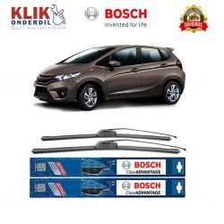 "Bosch Sepasang Wiper Frameless New Clear Advantage Mobil Honda Jazz GD 24"" & 14"" - 2 Pcs/Set"