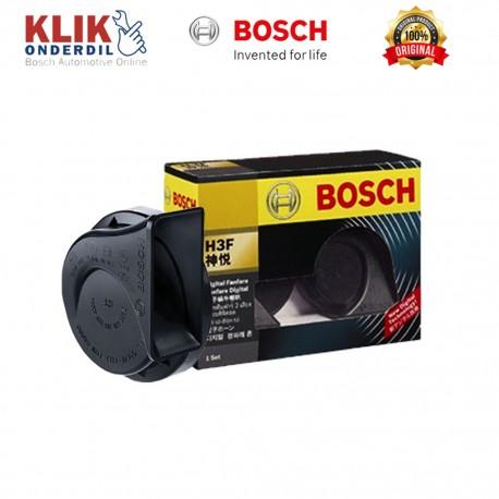 Bosch Klakson H3F Digital Fanfare (Keong) Black 12V Set - Klakson Bunyi Nyaring & Keras Merk Terbaik dg Harga Murah