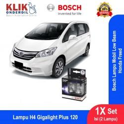 Bosch Lampu Mobil Honda Freed Low Beam Plus 120 H4 12V 60/55W P43t (2 Pcs/Set) - 1987301106