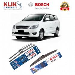 "Bosch Wiper Depan Frameless Clear Advantage & Belakang u/ Mobil Toyota Kijang Innova (24"" & 16"") + H307 - 3 pcs/set"