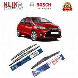 "Bosch Wiper Depan & Belakang Mobil Toyota Yaris Set (Advantage 24"" & 14"") + H307 12"" - 3 Buah - Jual dg Harga Murah"