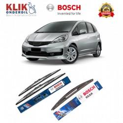 """Bosch Wiper Depan & Belakang Mobil Honda Jazz Set (Advantage 26"""" & 14"""") + H306 12"""" - 3 Buah - Tahan Lama dg Harga Murah"""