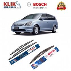 """Bosch Wiper Depan & Belakang Mobil Honda Stream Set (Advantage 24"""" & 14"""") + H306 12"""" - 3 Buah - Tahan Lama dg Harga Murah"""